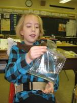 student doing an experiment